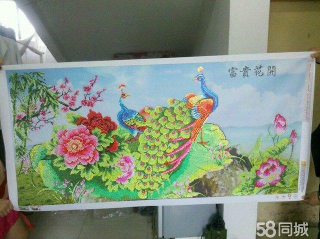【图】5d钻石画《富贵花开》孔雀图