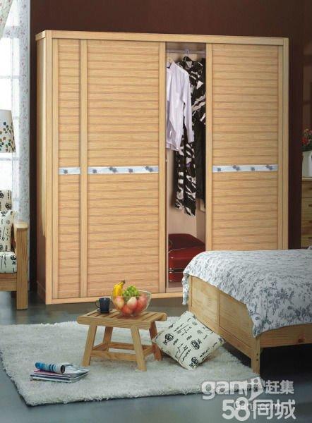 【图】横县木工多层实木免漆防潮整体衣柜家具---650