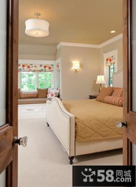 现代美式别墅卧室效果图