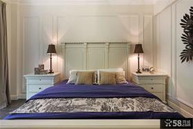 简约美式公寓卧室装修设计效果图