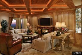 欧式古典风格别墅客厅装修图