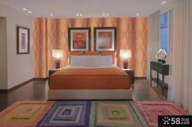 现代简约式装修风格卧室背景墙图片设计