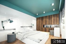 极简风格别墅卧室效果图