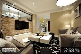 简约风格小复式客厅装修效果图