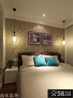 简约风格卧室床头装饰画效果图片