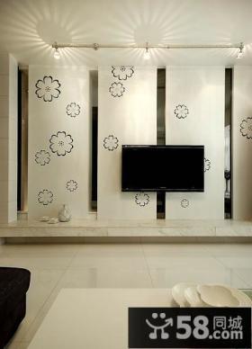 简单优质客厅电视背景墙效果图