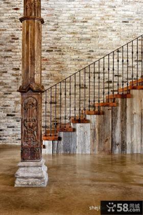 别墅楼梯背景墙设计