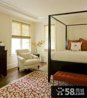 白色简约美式风格卧室装修效果图大全2012图片