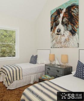 双人房卧室装修效果图大全2013图片