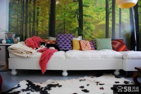 简约沙发背景墙画图片欣赏