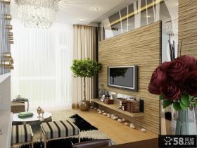 简约客厅电视背景墙装修设计图片