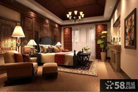 阳明谷美式风格别墅卧室样板间