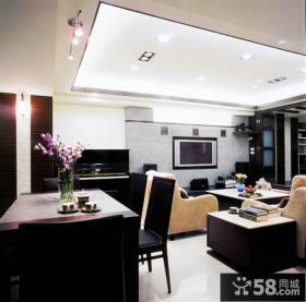 家庭设计室内客厅装修吊顶欣赏