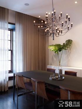 现代风格餐厅吊顶灯具装修效果图