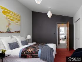 卧室床头装饰画效果图
