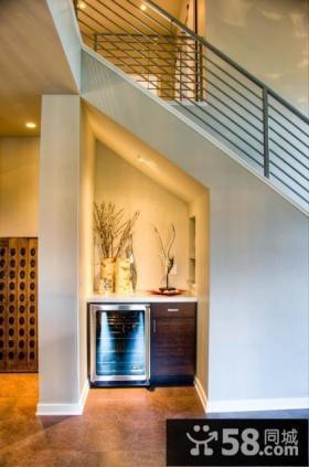 30万打造现代风格复式玄关隔断样板房装修效果图