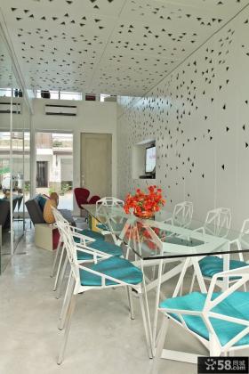 菲律宾联排别墅创意简约的餐厅装修效果图