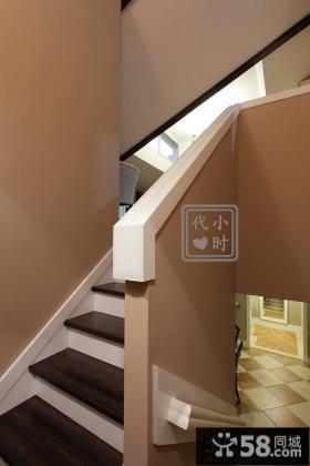 美式风格小复式装修楼梯图片
