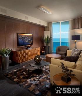 欧式风格三居室客厅电视背景墙装修效果图大全2014图片