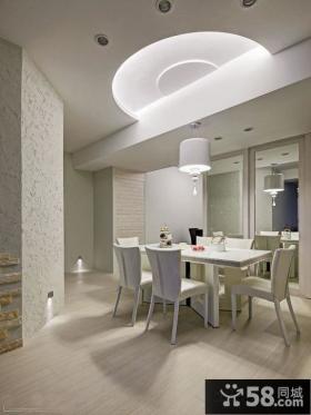简约欧式家居餐厅吊顶设计