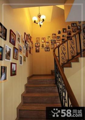 楼梯图片照片墙效果图