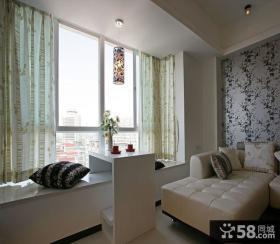 128平现代风格客厅飘窗装修效果图