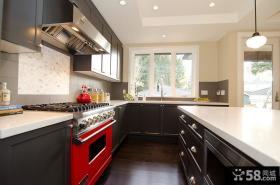 复式楼现代厨房装修效果图大全2012图片