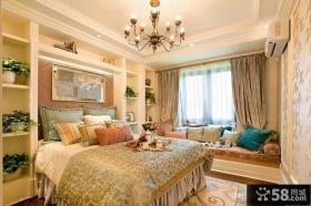 欧式别墅卧室吊顶装修效果图 2012优质卧室飘窗装修效果图