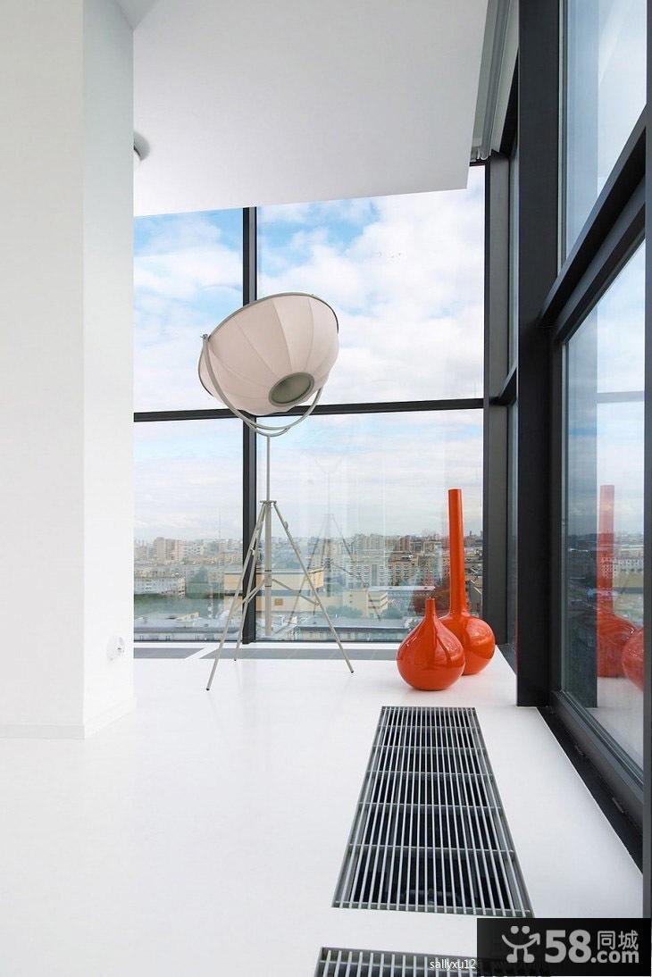 封闭阳台地面瓷砖效果效果图