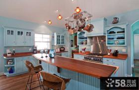 地中海风格家庭装修厨房图片