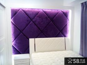简欧装修设计床头软包背景墙图片