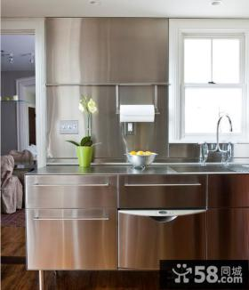 厨房不锈钢台面橱柜图片欣赏