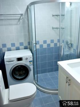 干湿卫生间淋浴室效果图