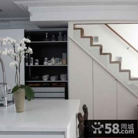 简约室内阁楼楼梯设计效果图