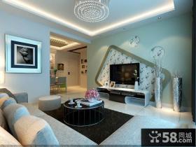 新古典家装客厅电视背景墙效果图
