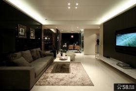 现代风格客厅不吊顶电视背景墙效果图