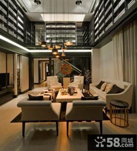 时尚简中式别墅设计案例欣赏