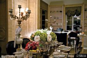 欧式风格家庭设计餐厅灯具图片
