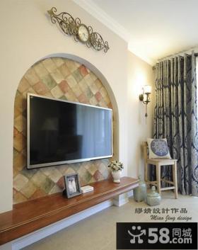 小电视背景墙设计效果图