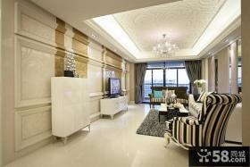 欧式家装客厅吊顶装修设计图