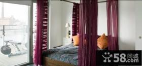 复式楼卧室窗帘装修效果图大全2014图片