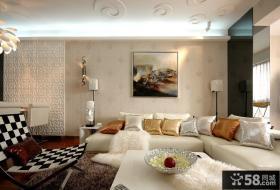 现代简约客厅沙发背景墙装修效果图大全2012图片