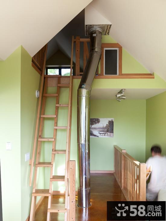 阁楼楼梯装修效果图大全2015图片