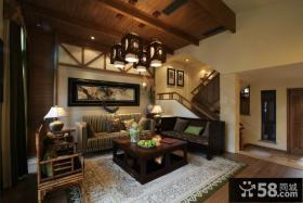中式古典装修客厅吊顶效果图