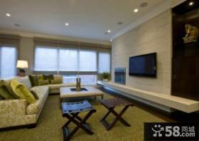 家居10平米客厅电视背景墙