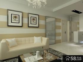 简约沙发背景墙设计效果图