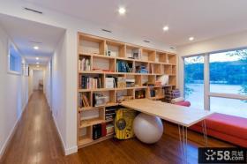 2013现代风格书房书架阳台装修效果图欣赏