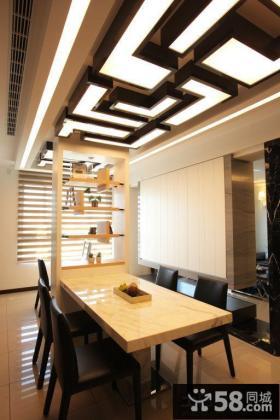 现代风格小户型家装吊顶设计效果图