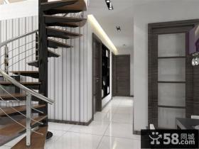 复式楼旋转楼梯装饰设计图片