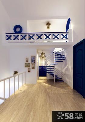 地中海风格室内楼梯效果图片